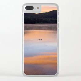 Out of the Depths (Sunrise on Lake George) Clear iPhone Case