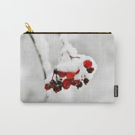 Bunch of red berries in winter Carry-All Pouch