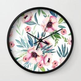 Flowers in Bloom Wall Clock