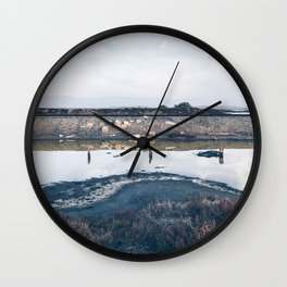 BLUE MOON XIV / Alviso, California Wall Clock