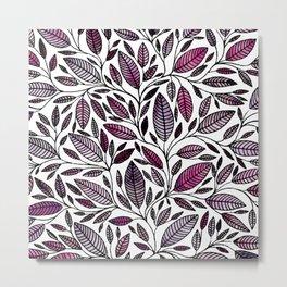 Floral Illustration - Leaf - No*49 Metal Print