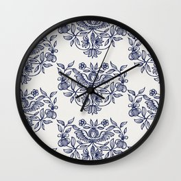 floral pattern Wall Clock