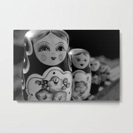 Wooden Dolls. Metal Print