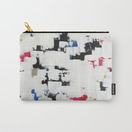 """No. 30 - Print of Original Acrylic Painting on canvas - 16"""" x 20"""" - (White and multi-color) Carry-All Pouch"""