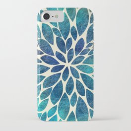 Petal Burst - Turquoise iPhone Case