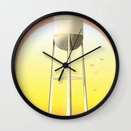 Old watertower Wall Clock