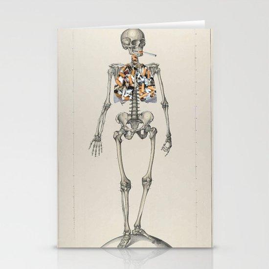 Skeletons Smoking Stationery Cards