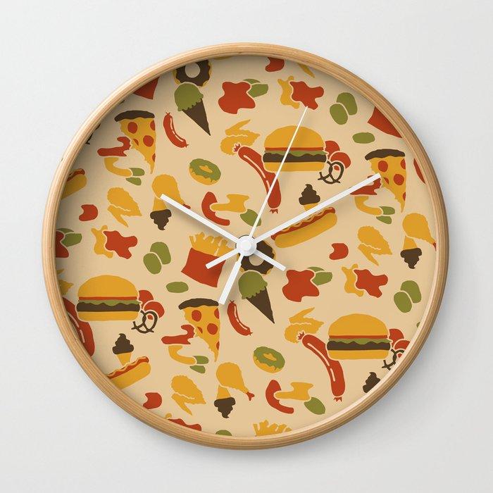 Fast Foodouflage Wall Clock
