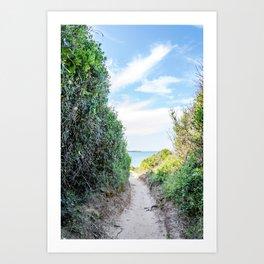 Seacoast of Adriatic Sea in Salento Italy Art Print