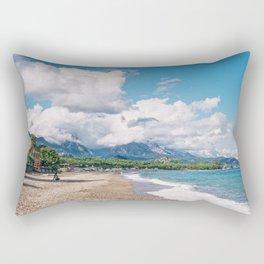 Kemer Beach, Antalya, Turkey Rectangular Pillow
