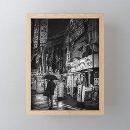 Fine Art Photography Tokyo Streets Black and White Framed Mini Art Print