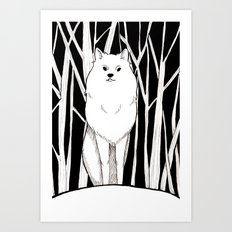 Wolf King Art Print
