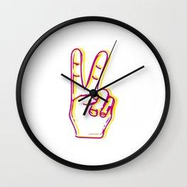 Peace fingers Wall Clock