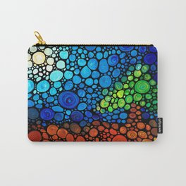One Fine Day - Colorful Landscape Painting by Sharon Cummings Carry-All Pouch