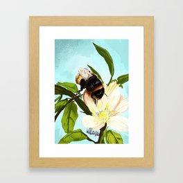 Bee on flower 4 Framed Art Print