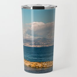 Seacoast of Antibes in a sunny winter day Travel Mug