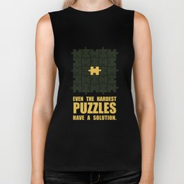 Lab No. 4 -Even The Hardest Puzzles Have A Solution Corporate Start-Up Quotes Biker Tank