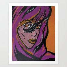 Purple Queen Art Print
