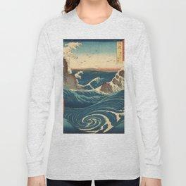 Vintage poster - Japanese Wave Long Sleeve T-shirt