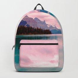 Mountains in Violet Pink Blue Backpack