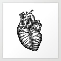 Heart gone wild Art Print