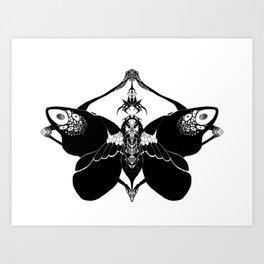 Fluttering Death Art Print