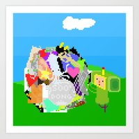 katamari Art Prints featuring Little Katamari by CatOverlord