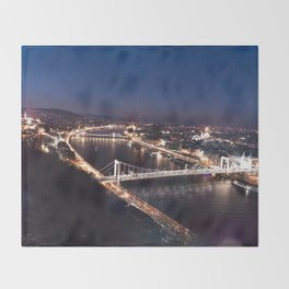 NIGHT TIME IN BUDAPEST Throw Blanket