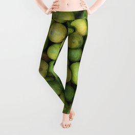 Lemon green in basket on market #society6 Leggings