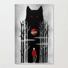 Stiles und der boese Wolf. Canvas Print