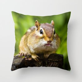 Caught With His Mouth Full Throw Pillow