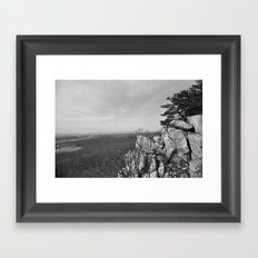 On Top of White Rock Framed Art Print