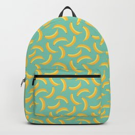 Bananas & Solid Mint Green Backpack