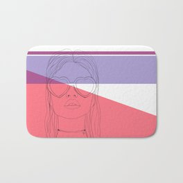 The girl in the heart sunglasses Bath Mat