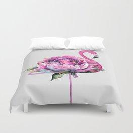 Flower Flamingo Duvet Cover