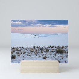 Pink Sky and White Sands Mini Art Print