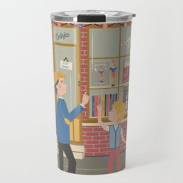 Vintage bookshop Travel Mug