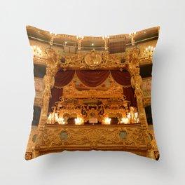Venice Opera House - Palco Reale Throw Pillow