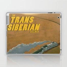 The Transsiberian Railway Travel Poster Laptop & iPad Skin