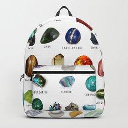crystals gemstones identification Backpack