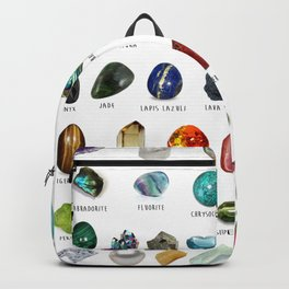 crystals gemstones identification Backpack