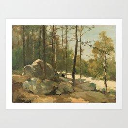 Wooded View near Barbizon - Johan Hendrik Weissenbruch (1900) Art Print