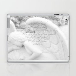 Guardian Angel Prayer | White Angel | Religious Art | Baptism | First Communion Laptop & iPad Skin