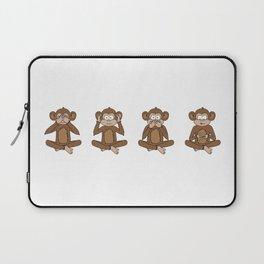 Four Wise Monkeys Laptop Sleeve