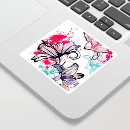 Splashy Flowers Sticker