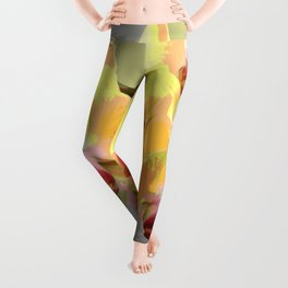 Yellow Orchids, afternoon sun Leggings