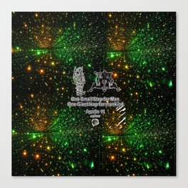 Space man  and Moonwalk 2 Canvas Print