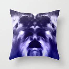 abstract psychedelic paint flow ghost face c8 Throw Pillow