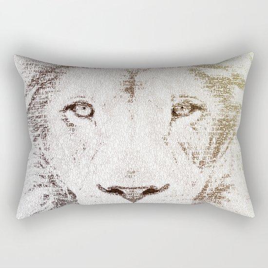 The Intellectual Lion Rectangular Pillow