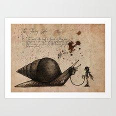 The fairy otler  Art Print